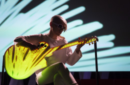Kaki King performs at TEDWomen2015 - Momentum, Session 6, May 29, 2015, Monterey Conference Center, Monterey, California, USA. Photo: Marla Aufmuth/TED
